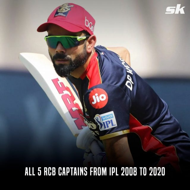 All 5 RCB captains from IPL 2008 to 2020